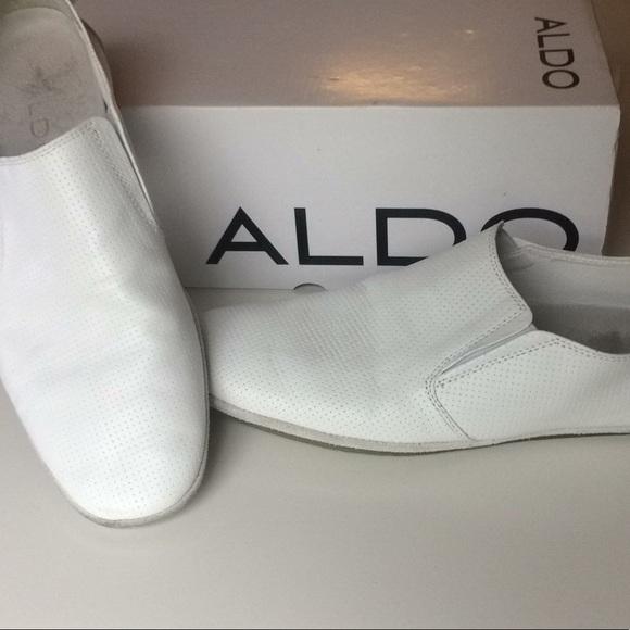 6bc4fe20b9 Aldo Other - 💥Men s Aldo White Leather Slip-on Loafers